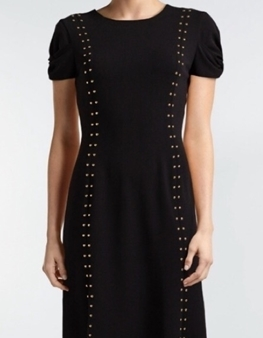 Picture of ECI Black Work Dress With Gold Studs