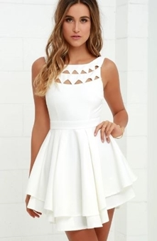 Picture of LuLu's Collection Short White Dress