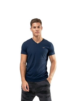 Picture of Navy Hollister V Neck T Shirt