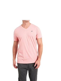 Picture of Blush Pink Hollister V Neck T Shirt